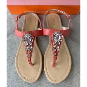 NEW! Sz 7! Soda Coral Paragon Thong Sandals NIB